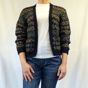 Vintage Lise J. Knitted Sweater Cardigan